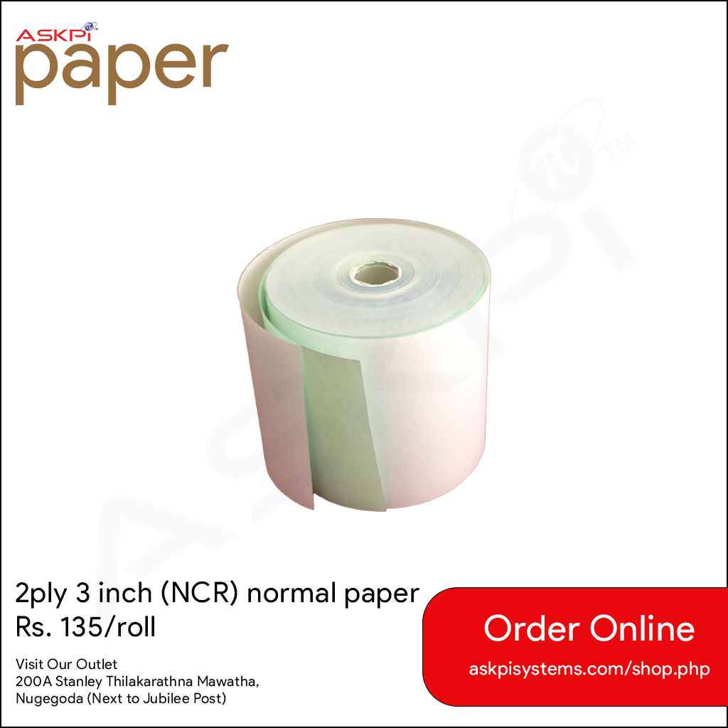 2ply 3inch Paper Roll (NCR)